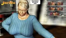 Cómic XXX con la abuela caliente
