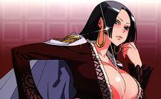 Cómic XXX One Piece con Boa Hancock desnuda