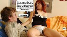 Fotonovela XXX de madre follando con su hijo